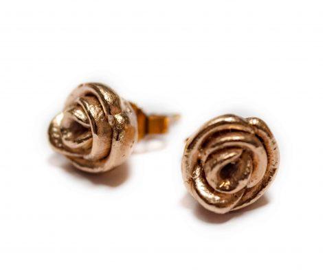 Rosevergoldete Rosen als Ohrstecker